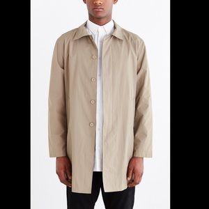 Stussy Tan Lightweight Trench Coat Size Medium